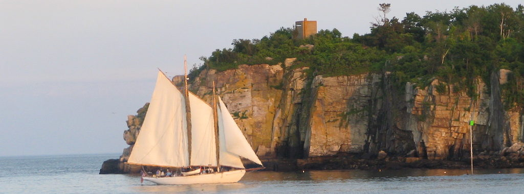 Schooner Wendameen sailing in Whitehead Passage