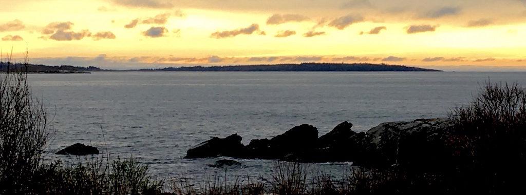 Sunrise and Jewell Island