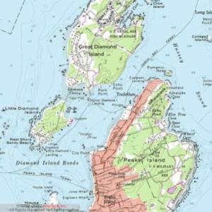 Topographic Map of Peaks Island