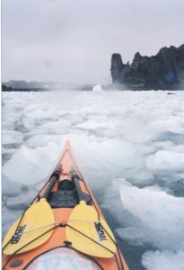Kayaking outside of King George, South Shetland Islands