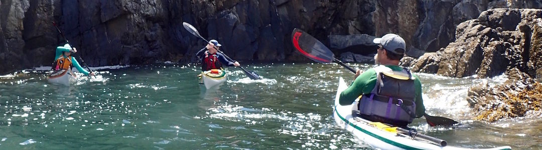 kayakers and draw strokes