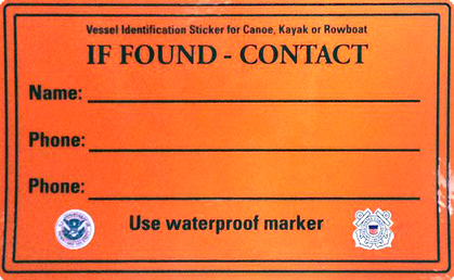 USCG If Found Sticker