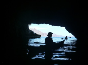 Kayaking through Baja's caves