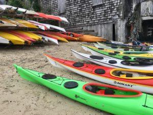 NDKs lined up on Kayak Beach