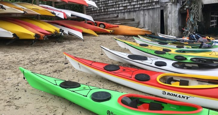 NDKs lined up on Kayak Beach