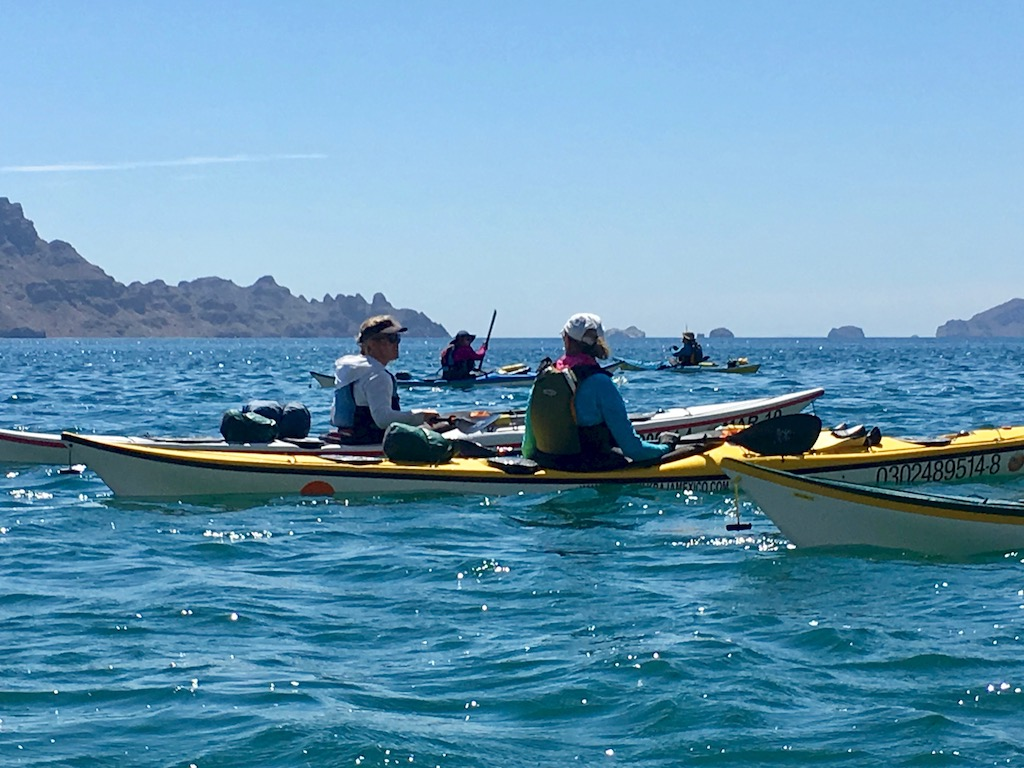 Women Sea Kayaking in Baja, Mexico