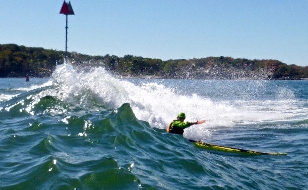 Eric Eaton surfs the Daymarker