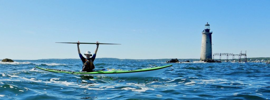 Ginni Callahan paddles by Ram Light