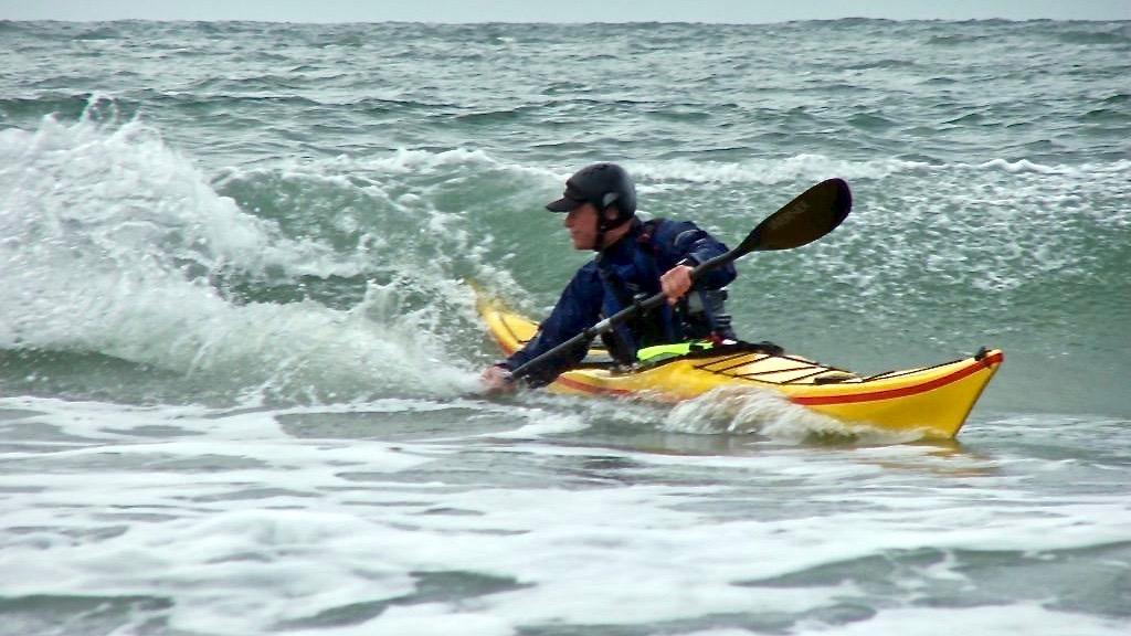 Dale Williams kayaking surfing