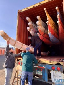 Unloading a container of new NDKs