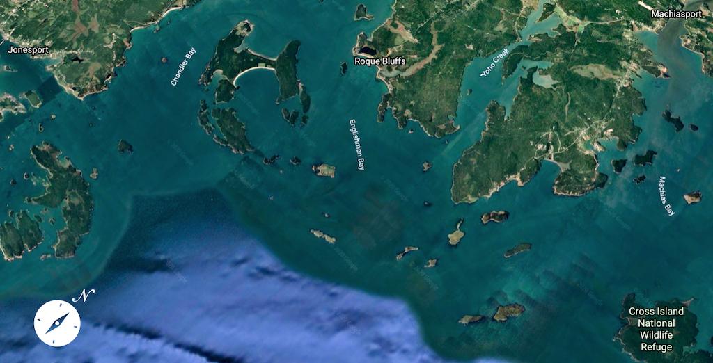 Jonesport to Machias - Google Earth