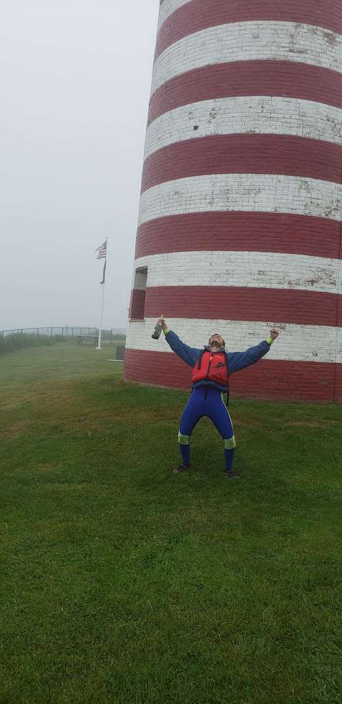 Celebrating at West Quoddy Head