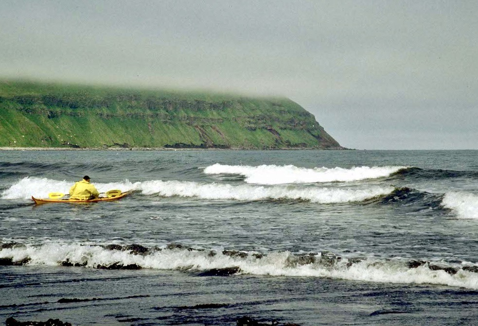 A good day paddling in the Aleutian Islands