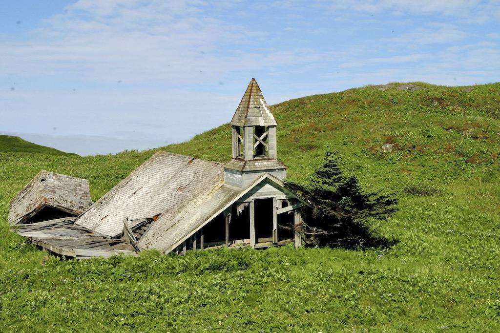Church ruin in Alaska