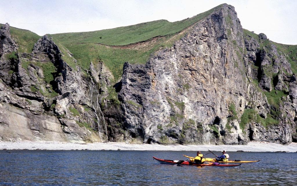 Sea kayakers in calm Alaskan waters