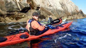 Kayaking along the backshore of Cushing