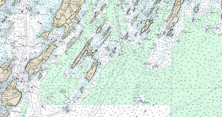 NOAA Chart of Casco Bay