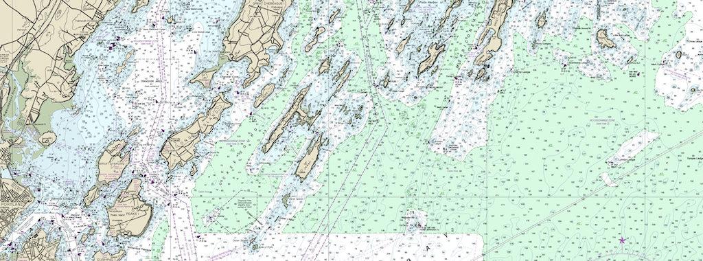 NOAA Chart of Casco Bay
