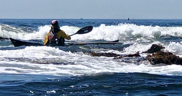 Liz Johnson sea kayaking